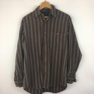 HAGGER Mens Small Luxury Dress Shirt Brown
